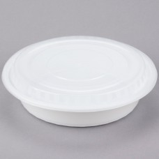 Contenedor Plastico Redondo Blanco Con Tapa 48 Onzas