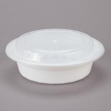 Contenedor Plastico Redondo Blanco Con Tapa 16 Onzas